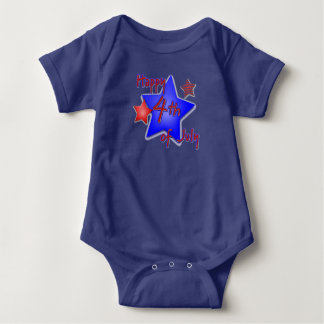 Happy 4th of July Baby Bodysuit