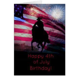 Happy  4th of July Birthday Card