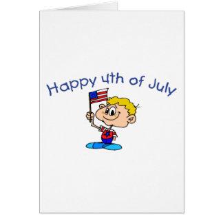 Happy 4th Of July (Boy) Card