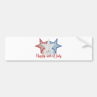 Happy 4th of July Bumper Sticker