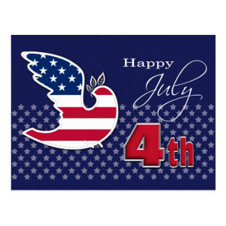 Happy 4th of July. Customizable Postcards