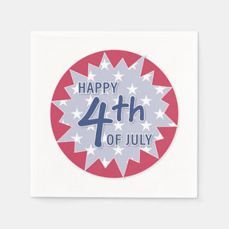 Happy 4th of July Disposable Napkin