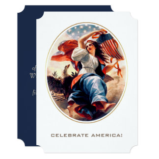 Happy 4th of July.Fine Art Customizable Flat Cards