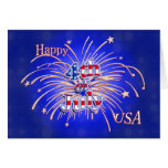 Happy 4th of July Fireworks Greeting Card