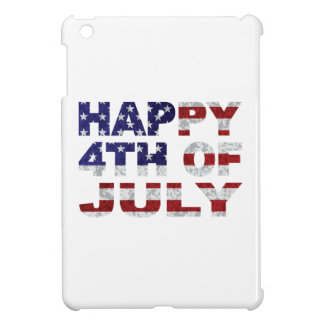 Happy 4th of July Flag Text Outline Txture Illustr Cover For The iPad Mini