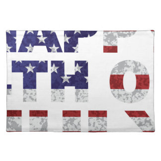 Happy 4th of July Flag Text Outline Txture Illustr Placemat