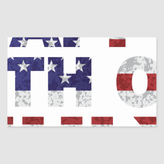 Happy 4th of July Flag Text Outline Txture Illustr Sticker