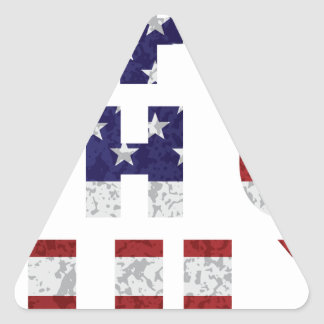 Happy 4th of July Flag Text Outline Txture Illustr Triangle Sticker