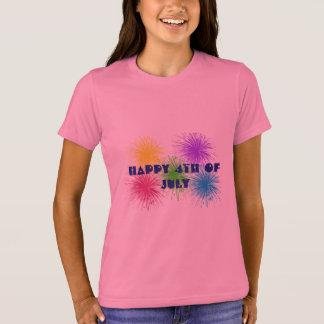 Happy 4th of July Girls Shirt