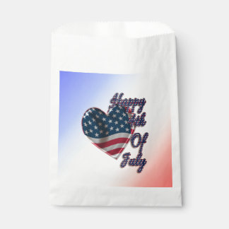 Happy 4th of July Heart - Favor Bag