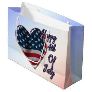 Happy 4th of July Heart - Large Gift Bag
