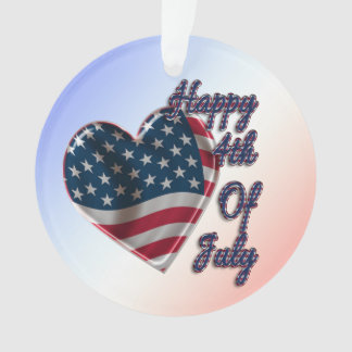 Happy 4th of July Heart - Ornament