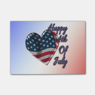 Happy 4th of July Heart - Post-it® Notes