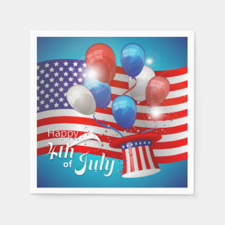 Happy 4th of July Patriotic Disposable Napkin