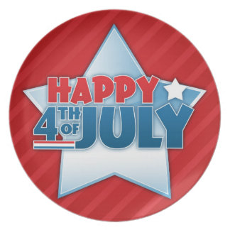 Happy 4th of July Patriotic Plate
