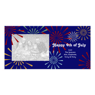 Happy 4th of July Photocards Custom Photo Card