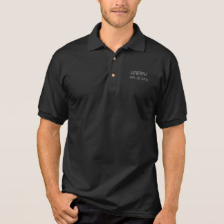 Happy 4th of July Rainbow Glitter Stars Typography Polo Shirt