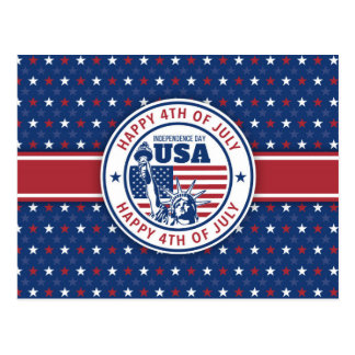 Happy 4th of July Seal Postcard