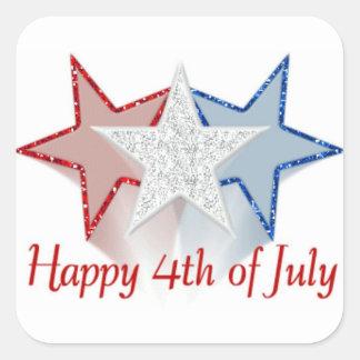 Happy 4th of July Square Sticker