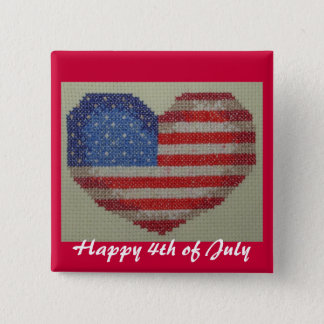 Happy 4th of July template button