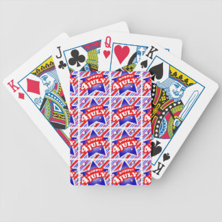 Happy 4th of July Theme Pattern Bicycle Playing Cards