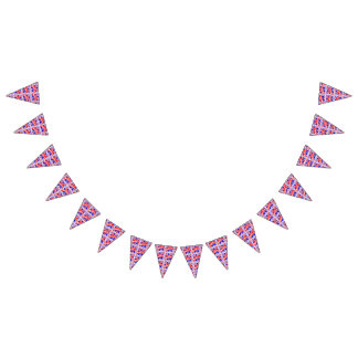 Happy 4th of July Theme Pattern Bunting Flags