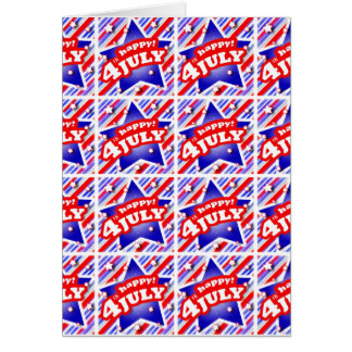 Happy 4th of July Theme Pattern Card