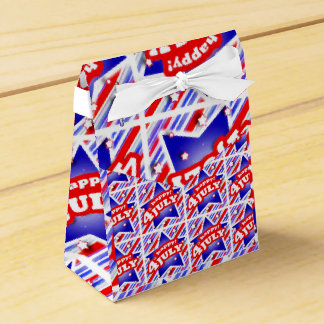 Happy 4th of July Theme Pattern Favor Box