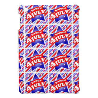 Happy 4th of July Theme Pattern iPad Mini Case
