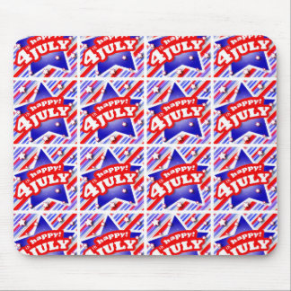 Happy 4th of July Theme Pattern Mouse Pad