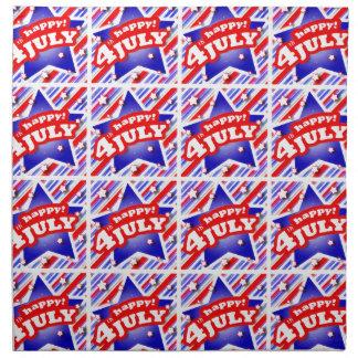 Happy 4th of July Theme Pattern Napkin