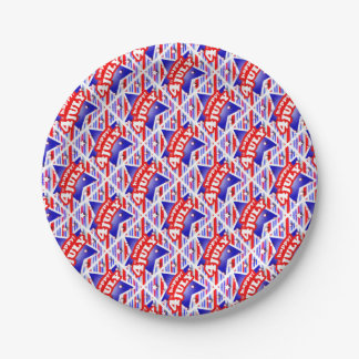 Happy 4th of July Theme Pattern Paper Plate