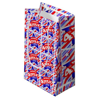 Happy 4th of July Theme Pattern Small Gift Bag
