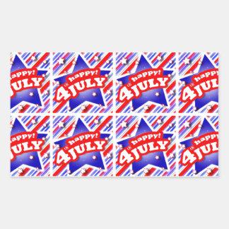 Happy 4th of July Theme Pattern Sticker