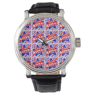 Happy 4th of July Theme Pattern Wrist Watches