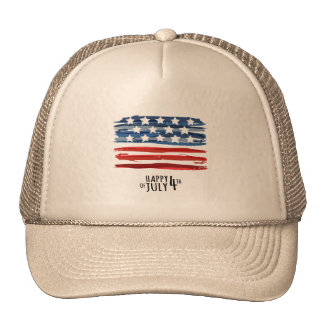 Happy 4th Of July Trucker Hat Men Cap