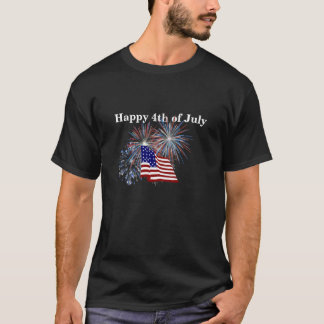 """Happy 4th of July""  Tshirt"