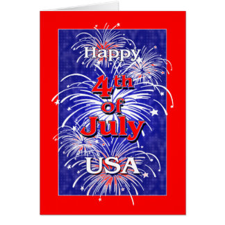 Happy 4th of July USA Card