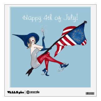 Happy 4th of July Wall Sticker