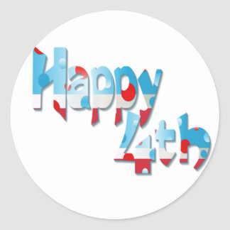 Happy 4th Stickers