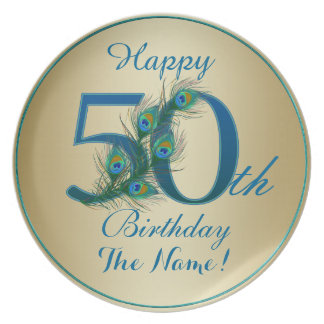 Happy 50th Birthday - 100% personalized plates