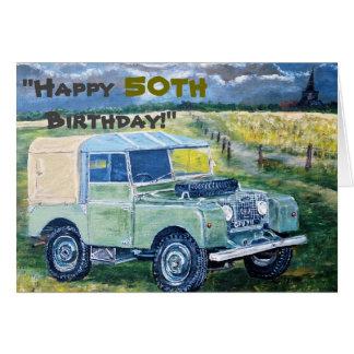 """""""Happy 50th Birthday!"""" Card"""