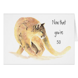 Happy 50th Birthday, Fun On the Prowl, Cougar Card
