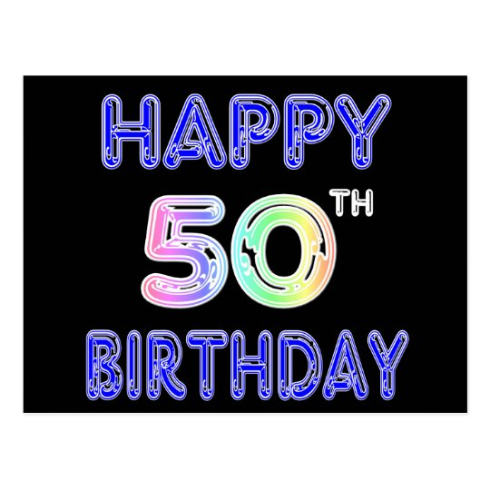 50 Happy Birthday To Me Quotes Images You Can Use: Happy 50th Birthday Gifts And Birthday Apparel Postcard