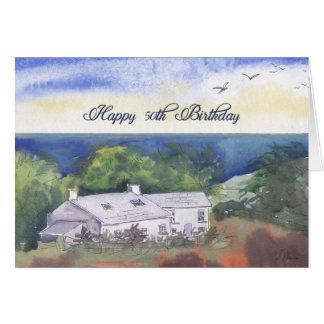 Happy 50th Birthday greeting card, Pembrokeshire Card