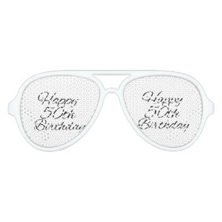 happy 50th birthday party sunglasses