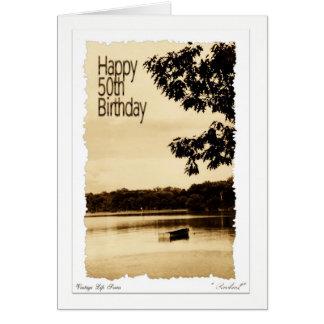Happy 50th Birthday - Rowboat Card