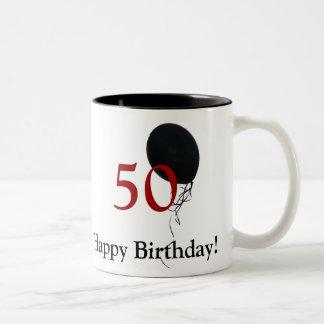 happy 50th birthday Two-Tone coffee mug