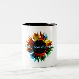 Happy 50th Birthday! Two-Tone Coffee Mug