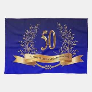Happy 50th Wedding Anniversary Kitchen Towels